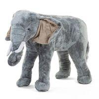 CHILDHOME Éléphant debout jouet 77x33x55 cm Gris