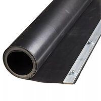 Feuille de barrière de racine Nature 0,7 x 3 m HDPE Noire 6030226