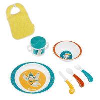 Badabulle Ensemble de vaisselle pour bébé 7 pcs Yummy Bleu