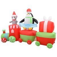 vidaXL Pingouin et souris gonflables en train de Noël LED IP44 350 cm