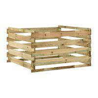 vidaXL Composteur de jardin à lattes 120x120x70cm Bois de pin imprégné