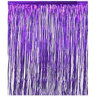 Rideau pailleté festif violet 1x2 mètres