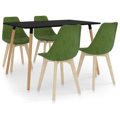 vidaXL Ensemble de salle à manger 5 pcs Vert clair