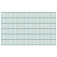 vidaXL Panneaux de clôture de jardin 2D 2,008x1,23 m 28 m total Vert