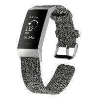 Bracelet Fitbit Charge 3 toile gris foncé - S