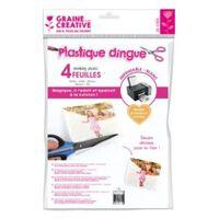 Graine Créative 4 feuilles de plastique dingue imprimable A4 - Blanc