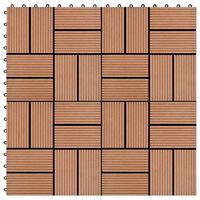 vidaXL Carreau de terrasse 11 pcs WPC 30 x 30 cm 1 m² Marron