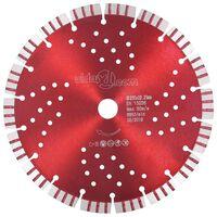 vidaXL Disque de coupe diamanté avec turbo et trous Acier 230 mm