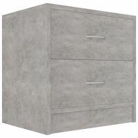vidaXL Table de chevet Gris béton 40 x 30 x 40 cm Aggloméré