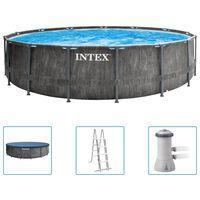 Intex Ensemble de piscine Greywood Prism Frame Premium 457x122 cm