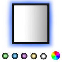 vidaXL Miroir à LED de salle de bain Noir 40x8,5x37 cm Aggloméré
