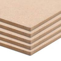 vidaXL Plaques de MDF 10 pcs Rectangulaire 120x60 cm 2,5 mm