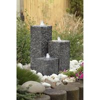 Fontaine de jardin en granit AquaArte Siena LED