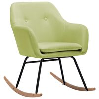 vidaXL Chaise à bascule Vert Tissu