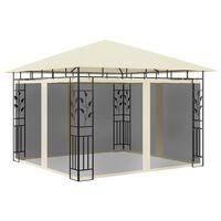 vidaXL Belvédère avec moustiquaire 3x3x2,73 m Crème 180 g/m²