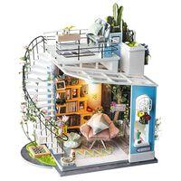 Robotime Kit miniature de bricolage Dora's Loft avec lumière LED