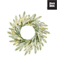 Black Box Trees - Brewer couronne frosted, vert LED  -  d45cm