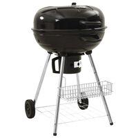 vidaXL Barbecue au charbon de bois à bouilloire 73x58x96 cm Acier