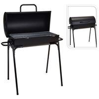 ProGarden Barbecue au charbon en forme de cylindre Diamètre 33 cm