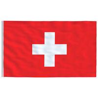 vidaXL Drapeau Suisse 90x150 cm
