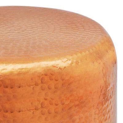 vidaXL Table basse/tabouret martelé en aluminium Couleur laiton/cuivre