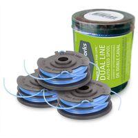 Greenworks Ensemble de bobine double fil 3 pcs pour tondeuse 3x1,6 mm