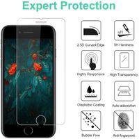 Lot de 2 protections d'écran en verre trempé iPhone SE