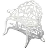 vidaXL Banc de jardin 100 cm Aluminium coulé Blanc