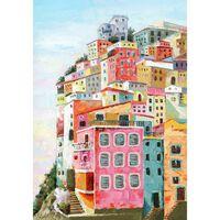 Peinture Sur Toile Multicolore Village - Italie