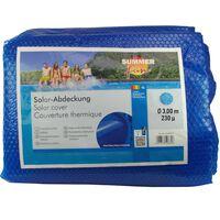 Summer Fun Couverture solaire de piscine d'été Rond 300 cm PE Bleu