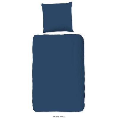 Good Morning Housse de couette Uni 140x200/220 cm Bleu denim