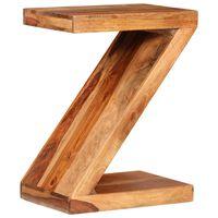 vidaXL Table d'appoint Forme de Z Bois massif de Sesham