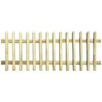 vidaXL Clôture à piquets Bois de pin imprégné 170 x 100 cm 5 / 7 cm