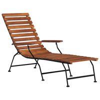 vidaXL Chaise de terrasse d'extérieur Bois d'acacia solide