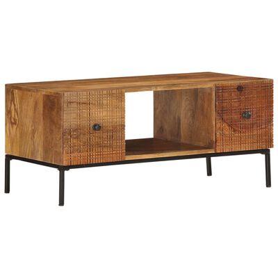 vidaXL Table basse 90x45x40 cm Bois de manguier massif