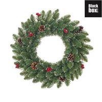 Black Box Trees - Creston couronne frosted, vert -  d45cm