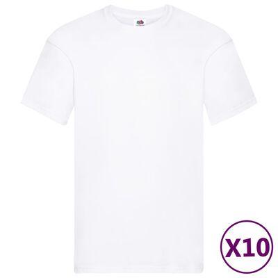 Fruit of the Loom T-shirts originaux 10 pcs Blanc XXL Coton