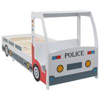 vidaXL Lit voiture de police avec bureau pour enfants 90 x 200 cm