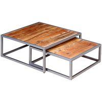 vidaXL Ensemble de table basse 2 pièces Bois d'acacia massif
