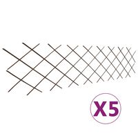 vidaXL Clôture en treillis de saule 5 pcs 180x60 cm