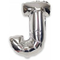 Ballon 53 cm, lettre J - argent