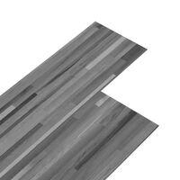 vidaXL Planches de plancher PVC 4,46 m² 3 mm Autoadhésif Gris rayé