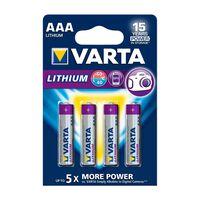 Varta Professional Lithium 6103301404 4x piles AAA