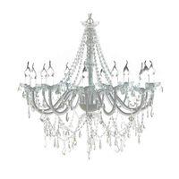 Lustre vénitien baroque 12 feux 1600 cristaux