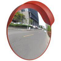 vidaXL Miroir de trafic convexe Plastique Orange 60 cm