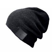 Casquette avec casque et microphone Bluetooth - noir