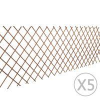 vidaXL Clôture en treillis de saule 5 pcs 180x90 cm