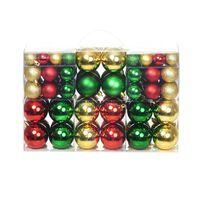 Boules de Noël 100 pcs Rouge/Doré/Vert