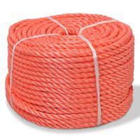vidaXL Corde torsadée Polypropylène 16 mm 250 m Orange
