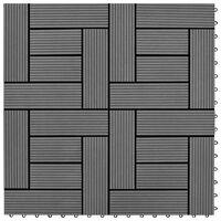 vidaXL Carreaux de terrasse 30x30 cm 11 pcs Gris WPC 1 m2